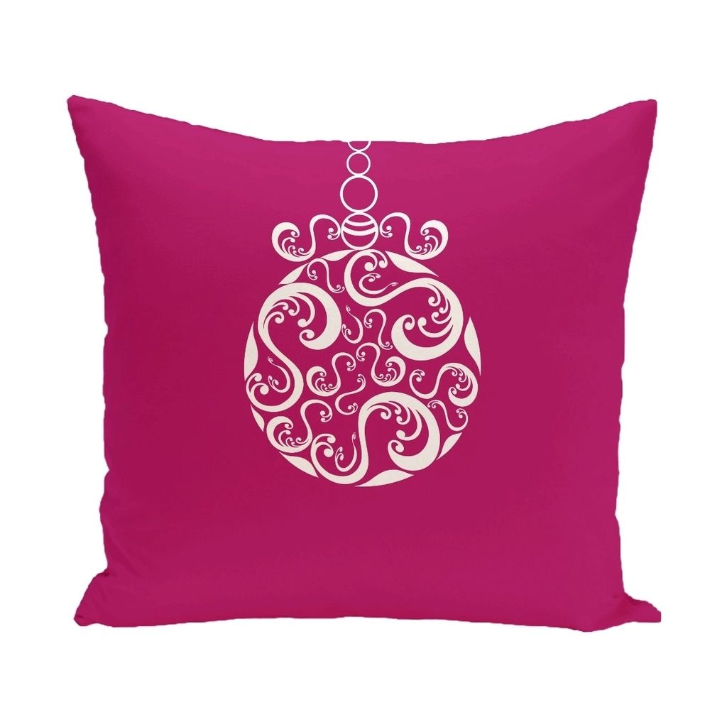 Blue grey green decorative holiday print inch pillow
