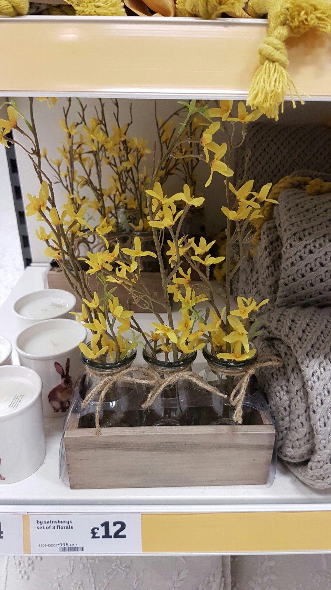 Sainsburys cute flower jars | My Place | Pinterest