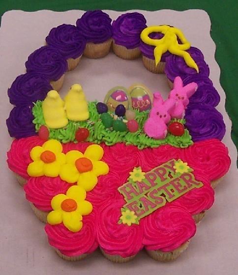Easter Basket Cupcake Cake 1 Easter Cupcakes Cupcake Cakes