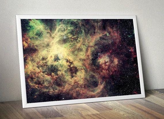 Hubble Tarantula Nebula Galaxy Wall Print by DareToDreamPrints