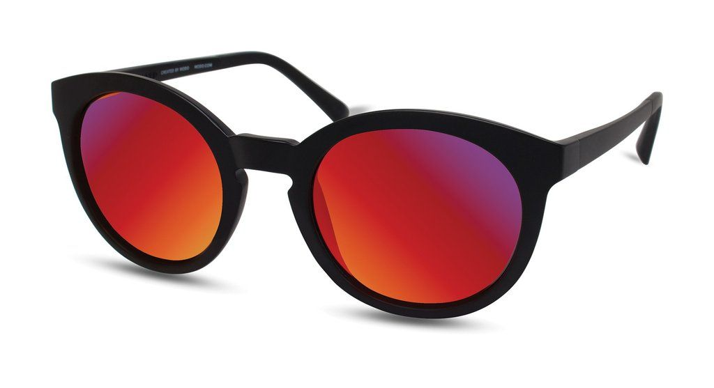 565a1b1e5f Eco Eyes - Environmentally Friendly Eyewear ECO RIO GRANDE Black Frames  with Red Mirror Lenses Sunglasses