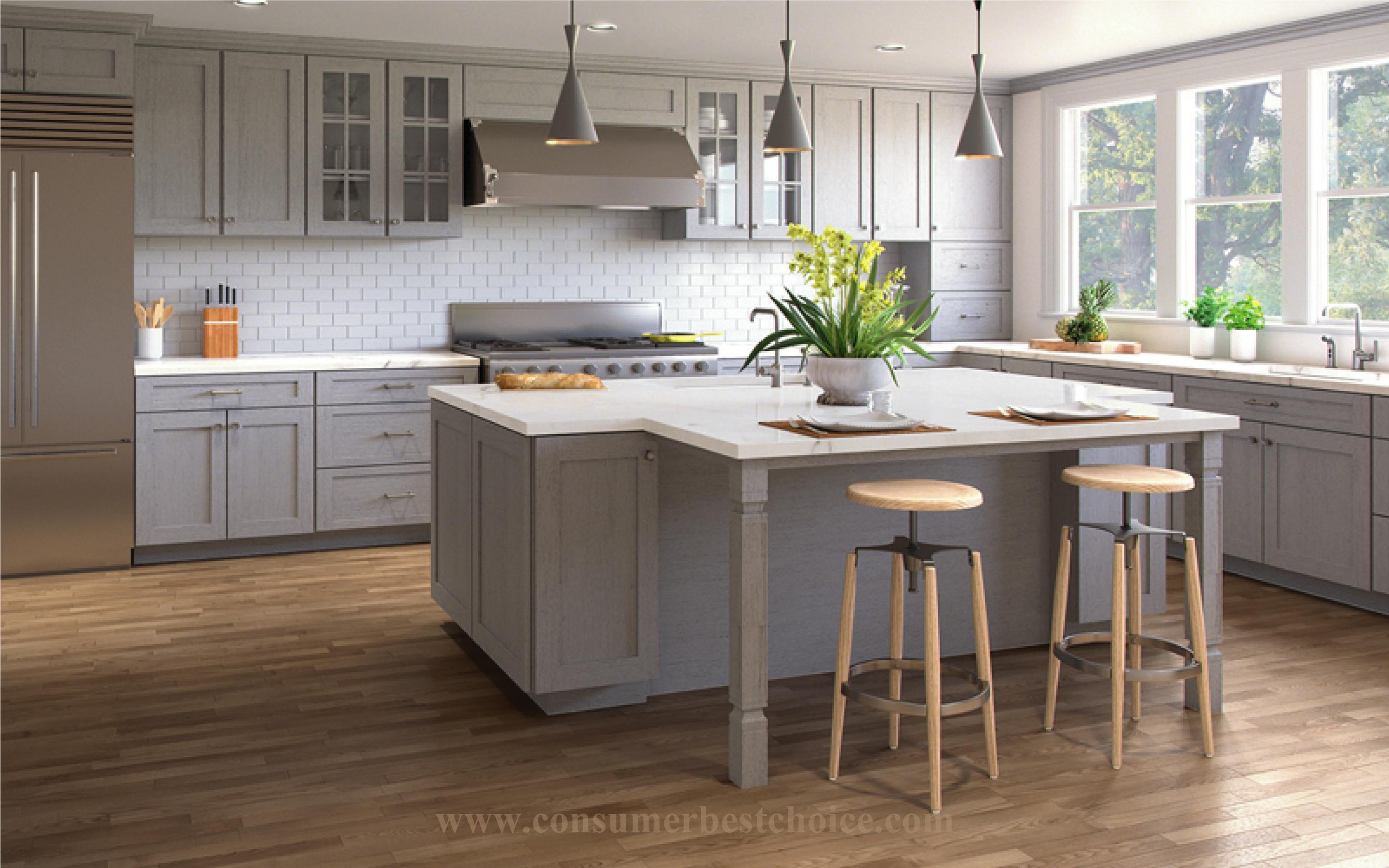 Best Clean Matte Finish Hardwood Floors Light Grey Kitchen 400 x 300