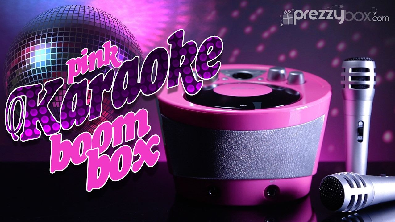Karaoke boombox pink sing your heart out crazy kids