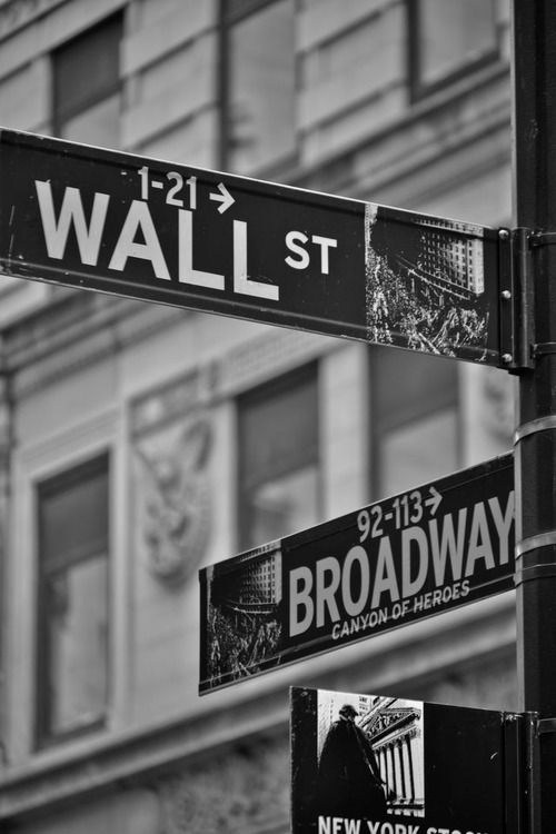 The corner of Broadway and Wallstreet is the PERFECT place for me!
