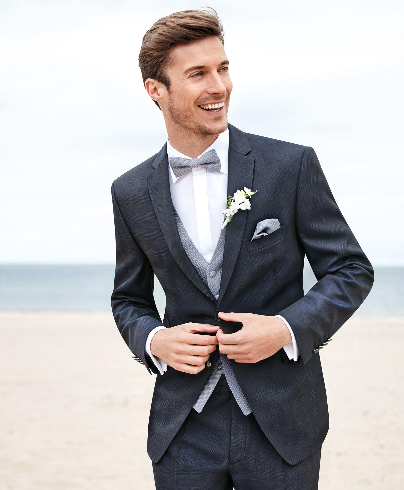Gala Glencheck Hochzeitsanzug In Der Absoluten Modefarbe Dunkelblau Anzug Hochzeit Mann Anzug Hochzeit Hochzeit Brautigam Anzuge