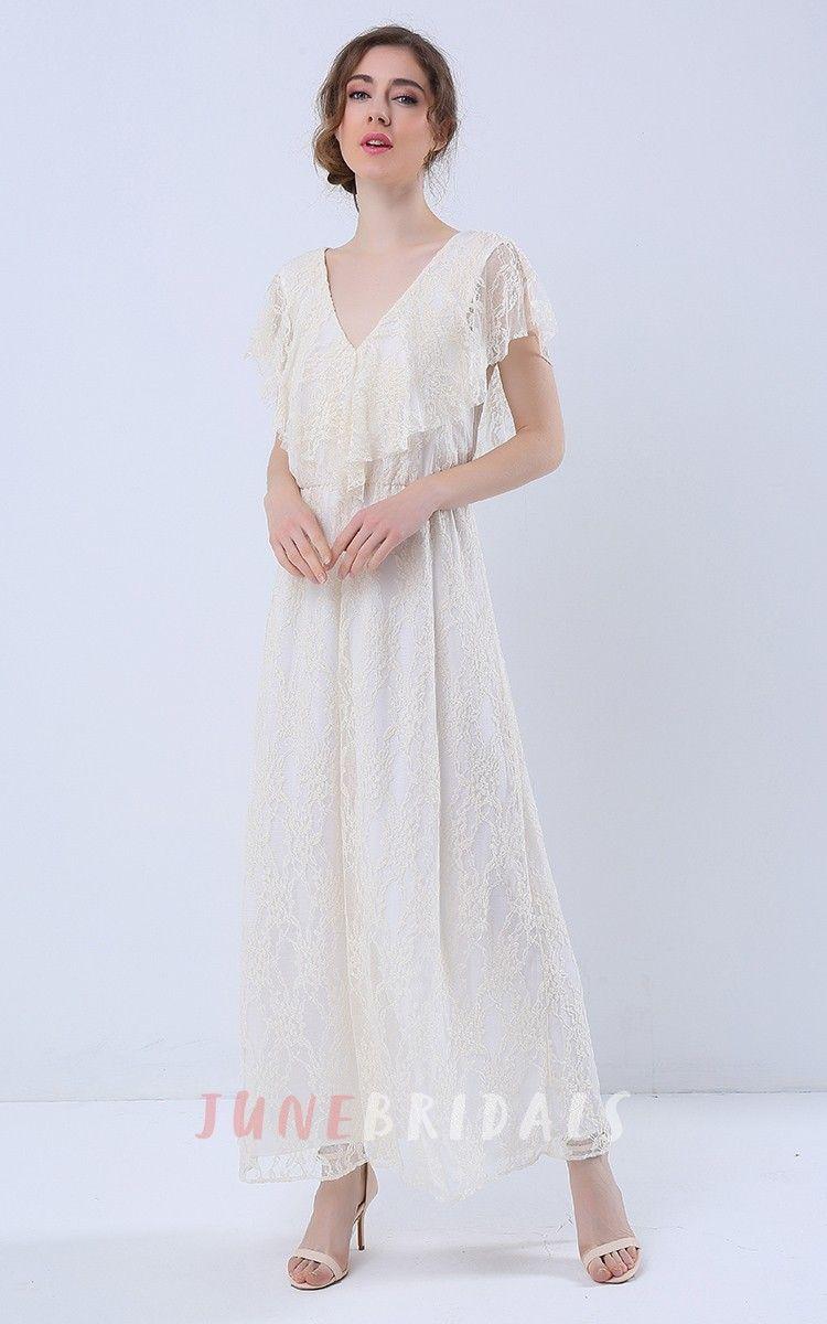 Open Back Short Sleeve Maxi Lace Dress   Pinterest   Lace dress ...