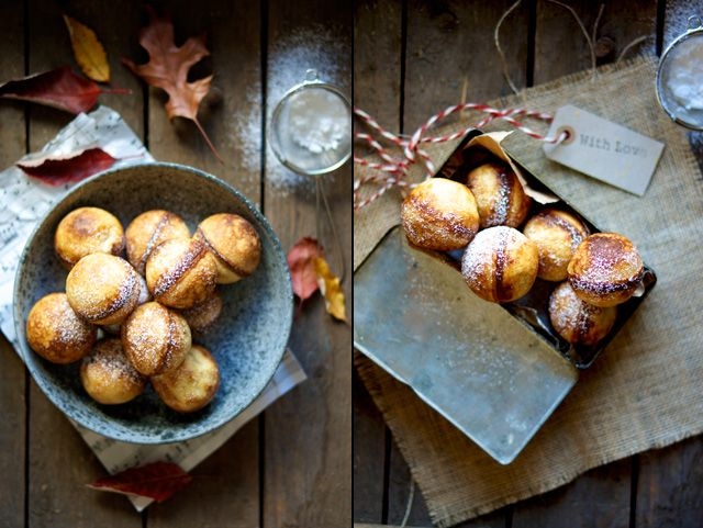 Puffed pancakes aka. aebleskiver