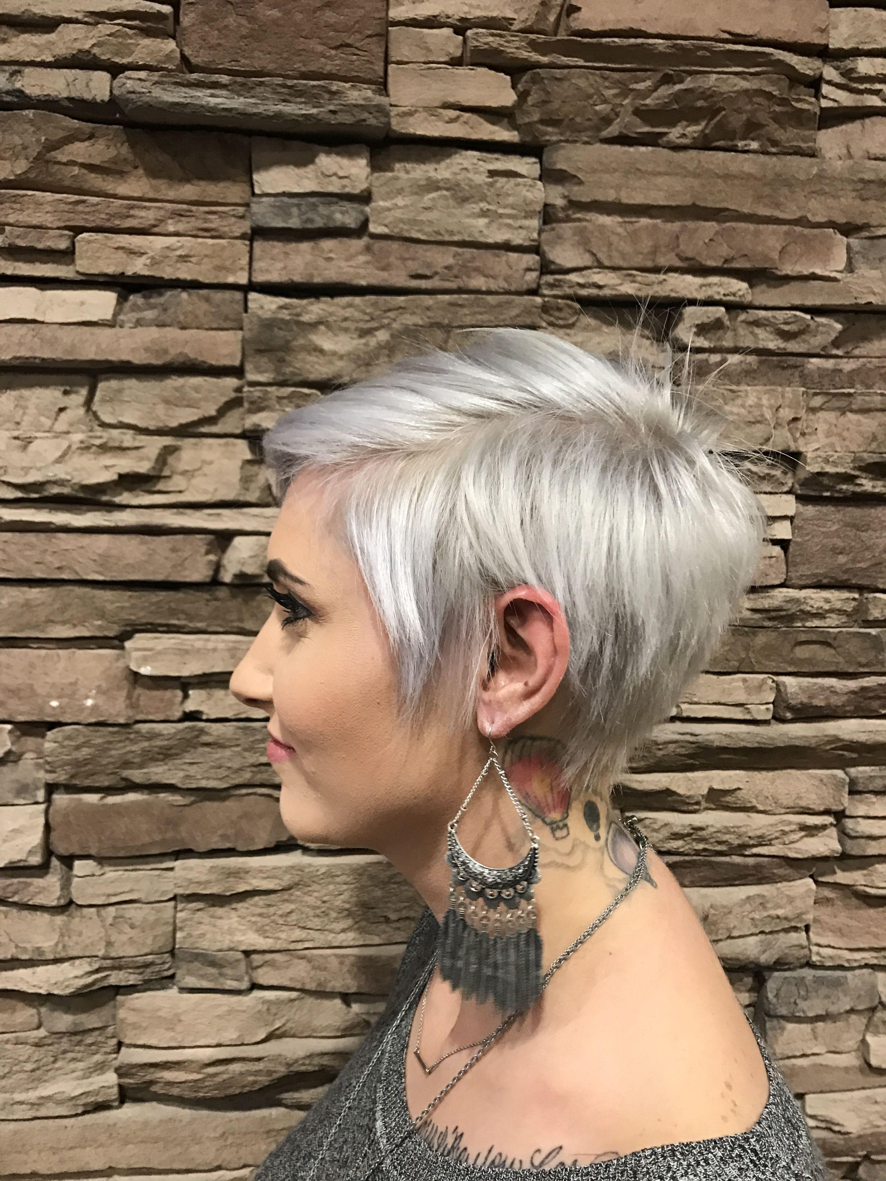 Pixie Cut Pixie Hair Cut White Pixiecut White Hair Platinum Pixie