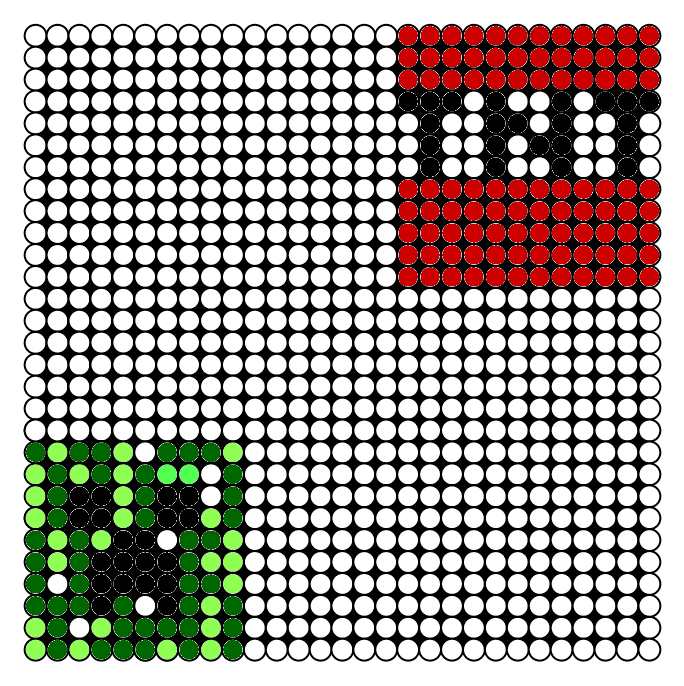 Perler Bead pattern 1: Minecraft Creeper and TNT | Perler