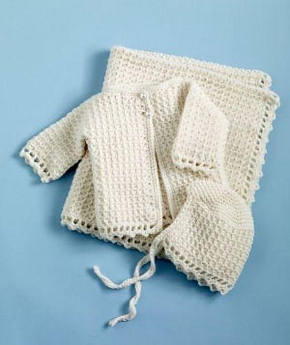Free pattern Ravelry: Crochet Baby Christening Set - Sweater ...