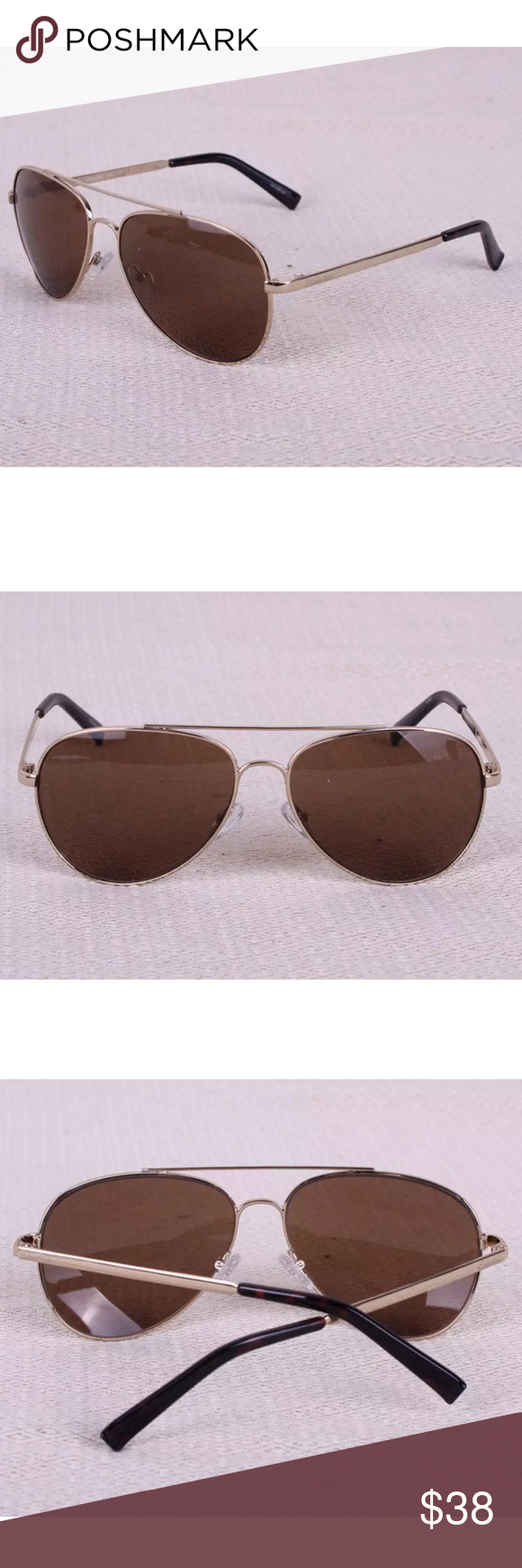 f2d4c605dd38 Calvin Klein Men's Sunglasses R159S 717 Gold Brown Color: Gold and Brown  Model: R159S 717 Retail at $68.00 All brand new and 100% authentic.