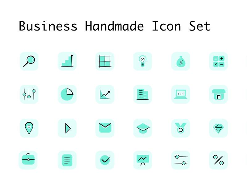 Business Handmade Icon Set