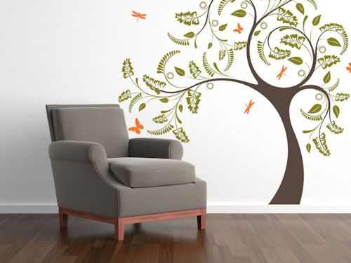 dragonfly tree giant wall decal - Wall Stickers Design Your Own