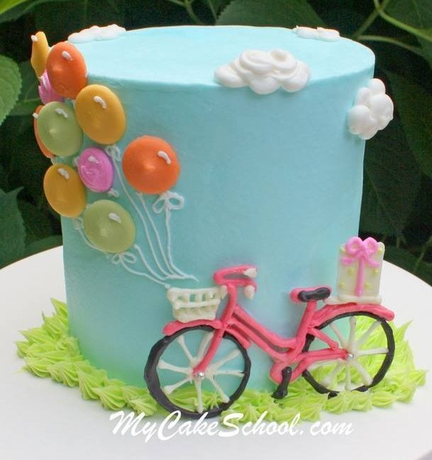 Bicycle & Balloons cake <3
