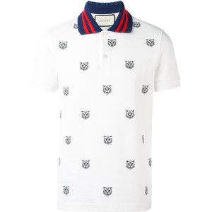 Champion Classic Logo Mens Polo Shirt White Short Sleeve Designer Fashion Top