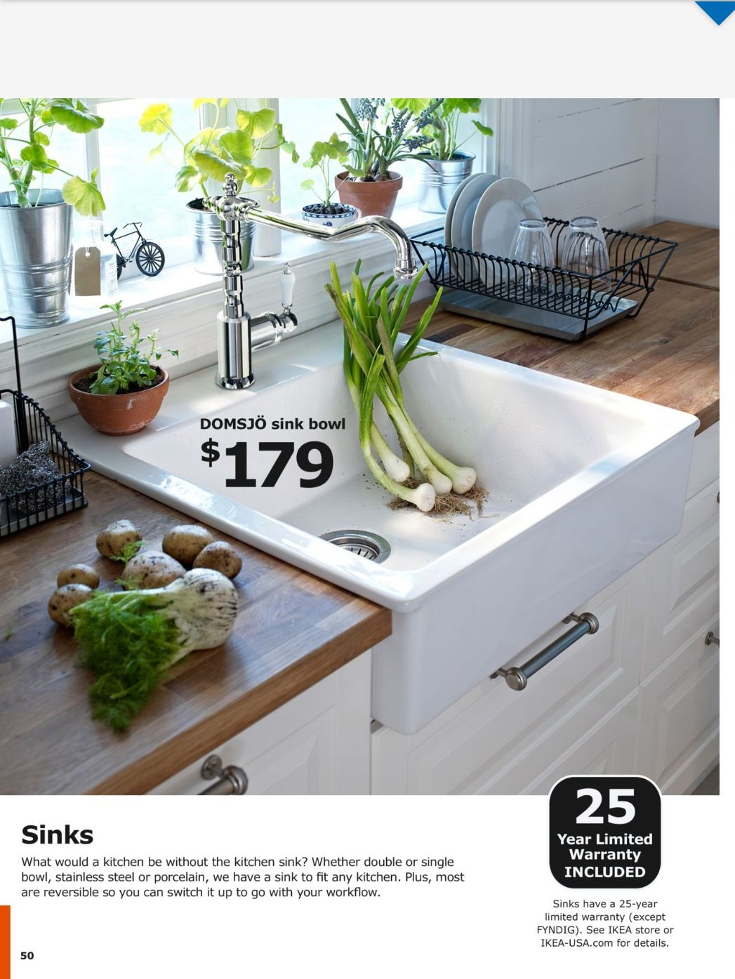 White apron ikea