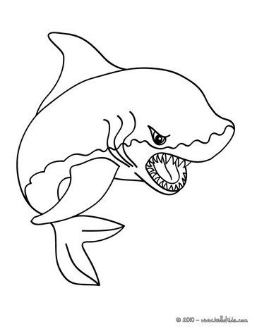 Shark Coloring Pages For Kids To Print