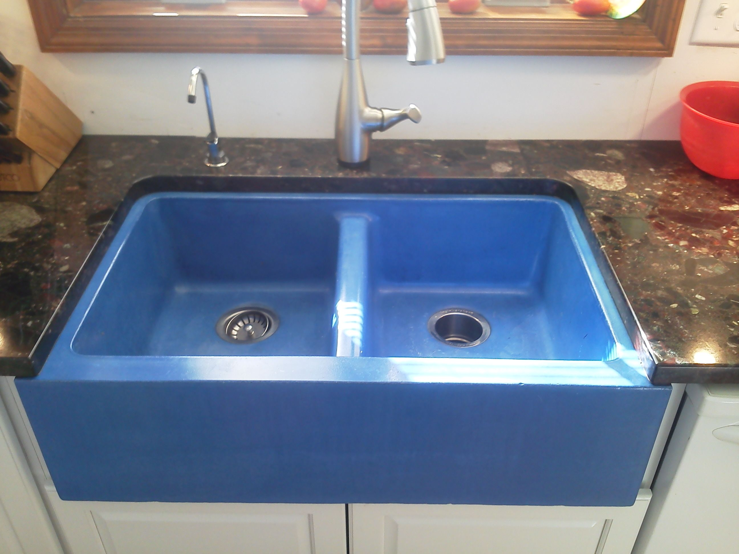Blue Kitchen Sink Sink Blue Kitchens Reinforced Concrete
