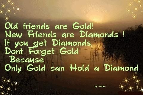Quotes About Don T Forget Old Friends When You Make New Ones You Get Diamonds Don T Forget Gold Because Old Friend Quotes Old Best Friends Friends Quotes