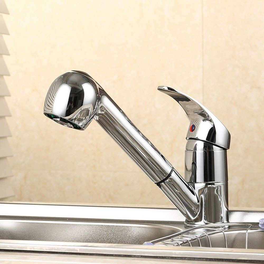 basin faucets sink mixer tap single spray handle polished chrome
