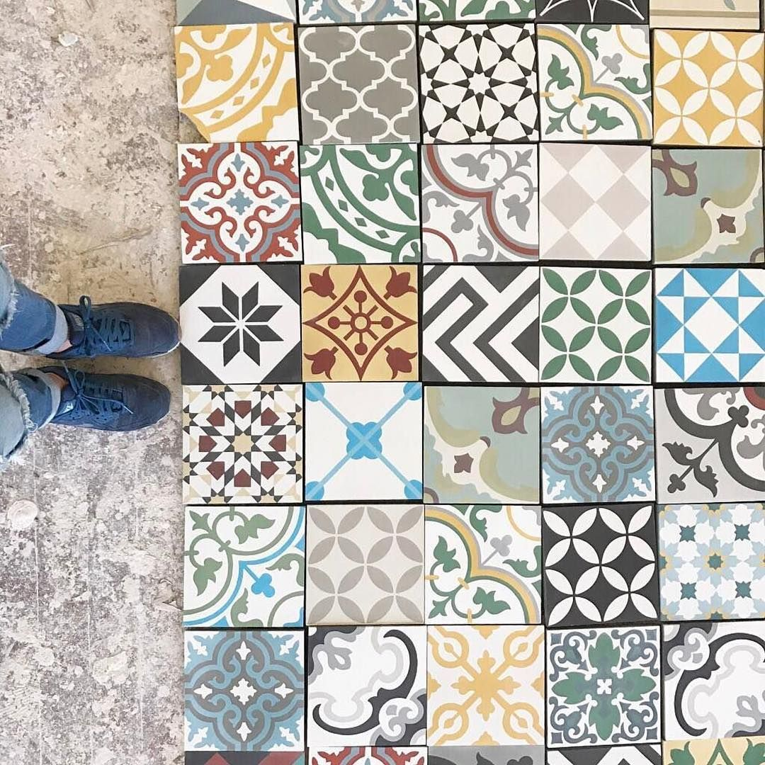 Cement Tile Encaustic Patchwork Random