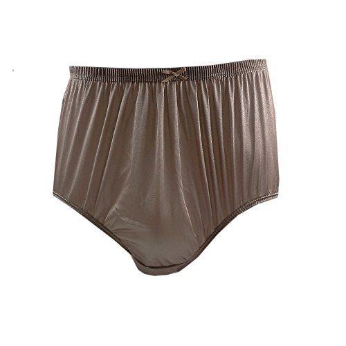 ec0022af1f42 Briefs Nylon Panties Vintage Style Brown Plain Panties Briefs Sheer Nylon  Underwear For Women