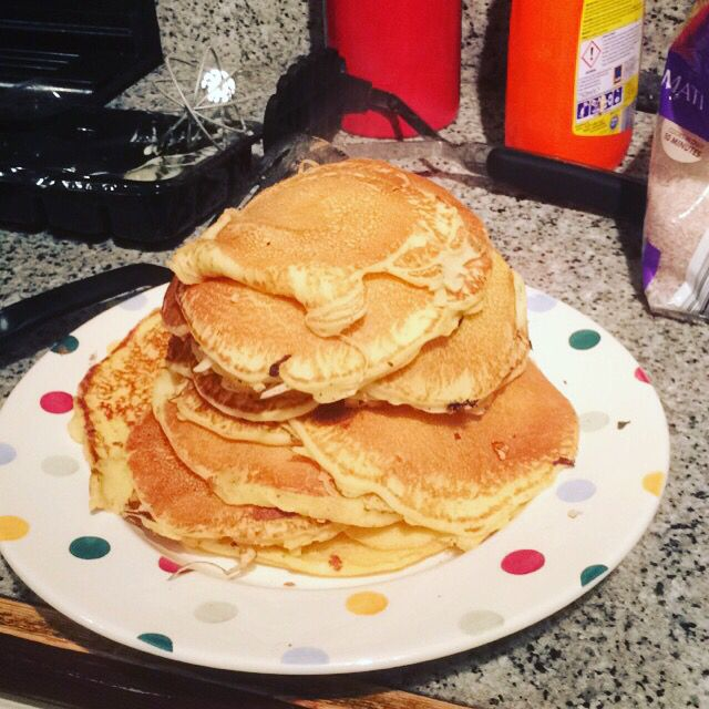 Finish the day with pancakes - well it is pancake day (not all mine)
