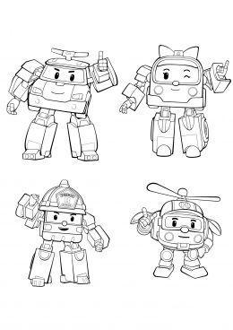 Robocar Poli Coloring Page Korean Kids Stuff Robocar Poli