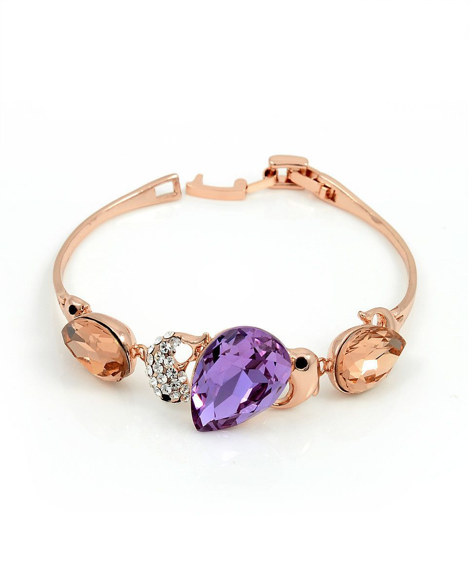 Swarovski crystal bracelet rose gold small wrist products