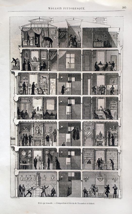 L Immeuble De Paris Au Xixe Siecle Le Magasin Pittoresque 1883