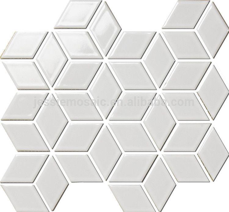 Js hexagonale 3d mosaïque carrelage de salle de bain-Mosaïque-ID de - enlever carrelage salle de bain
