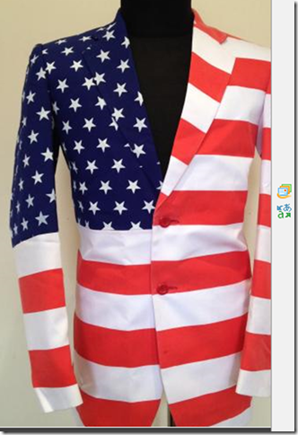 Grooms Men Suit Men Shirt Style American Flag Suit Suits Coats