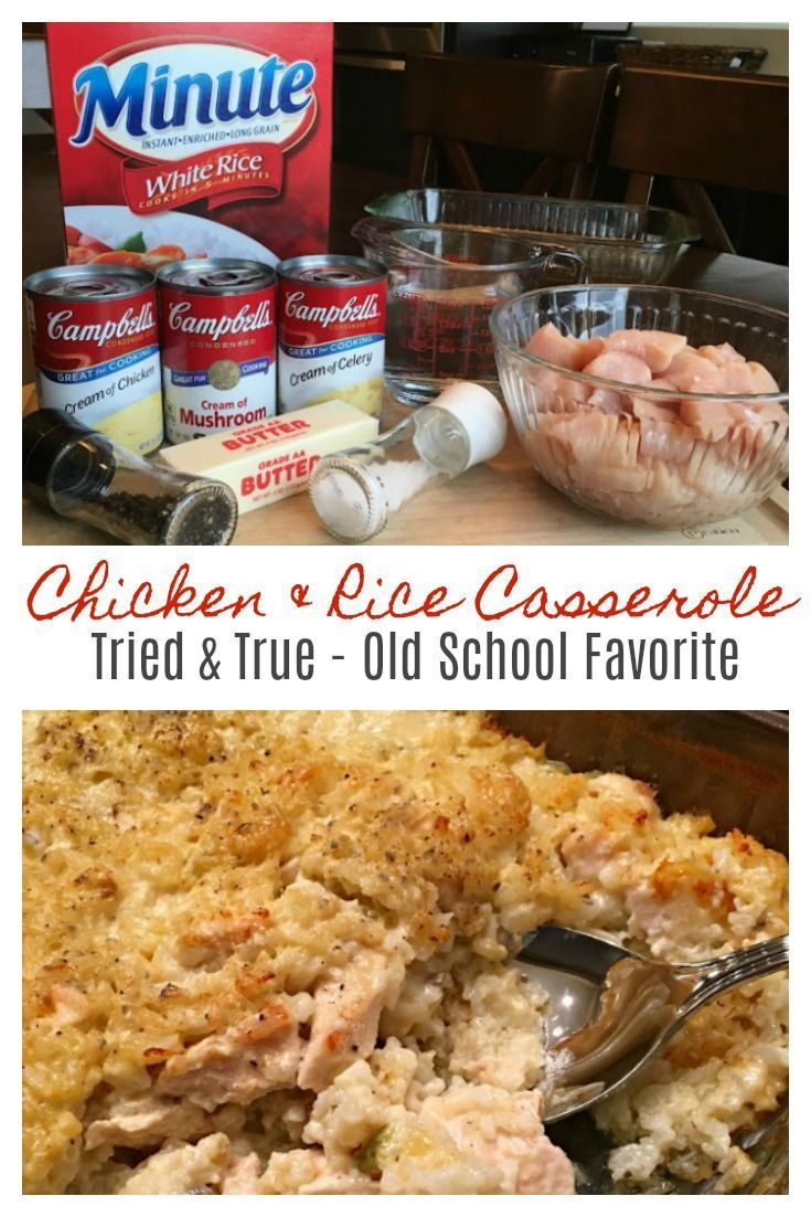 MAMAW'S CHICKEN & RICE CASSEROLE - Wonderful tried and true , old school recipe that's big on taste and comfort and a cinch to make! Perfect for a busy day, potlucks or a special delivery to family and friends in need of some comfort. This makes for awesome leftovers too - it's even better the next day!