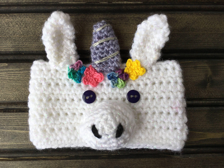 Crochet Unicorn Shaker Cup Cozy Pattern / Unicorn Cozy Pattern by ...