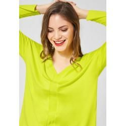 Photo of Street One – Basic Shirt aus Cupro in Lime Street OneStreet One