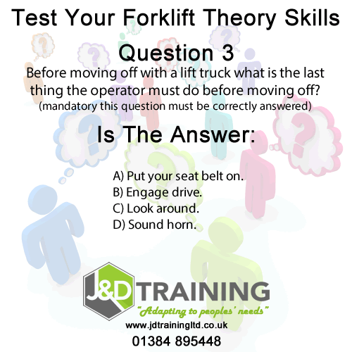 Forklift question of the day 3 from http://ift.tt/1HvuLik #forklift #training #safety #jobsearch