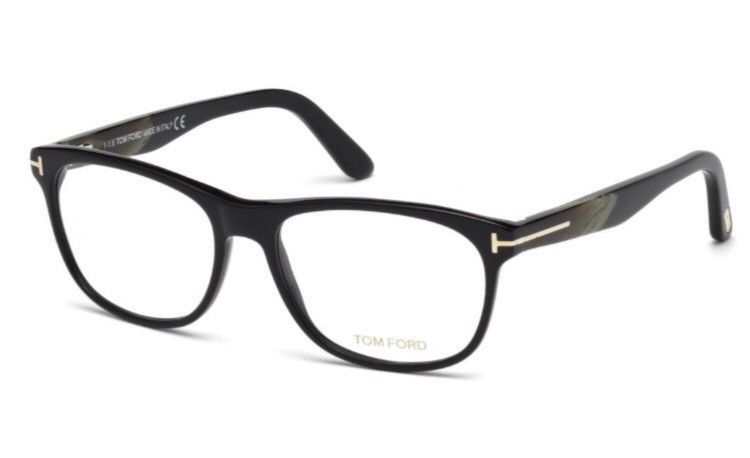 d7a719e3ba Tom Ford TF5431 Mens Eyeglasses Black Brown Horn Coloured Horn 001 062 064  53mm