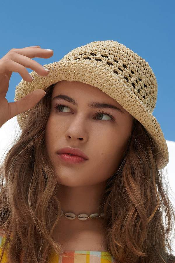 2cf06a31b Urban Outfitters Emma Straw Bucket Hat in 2019   Products   Hats ...