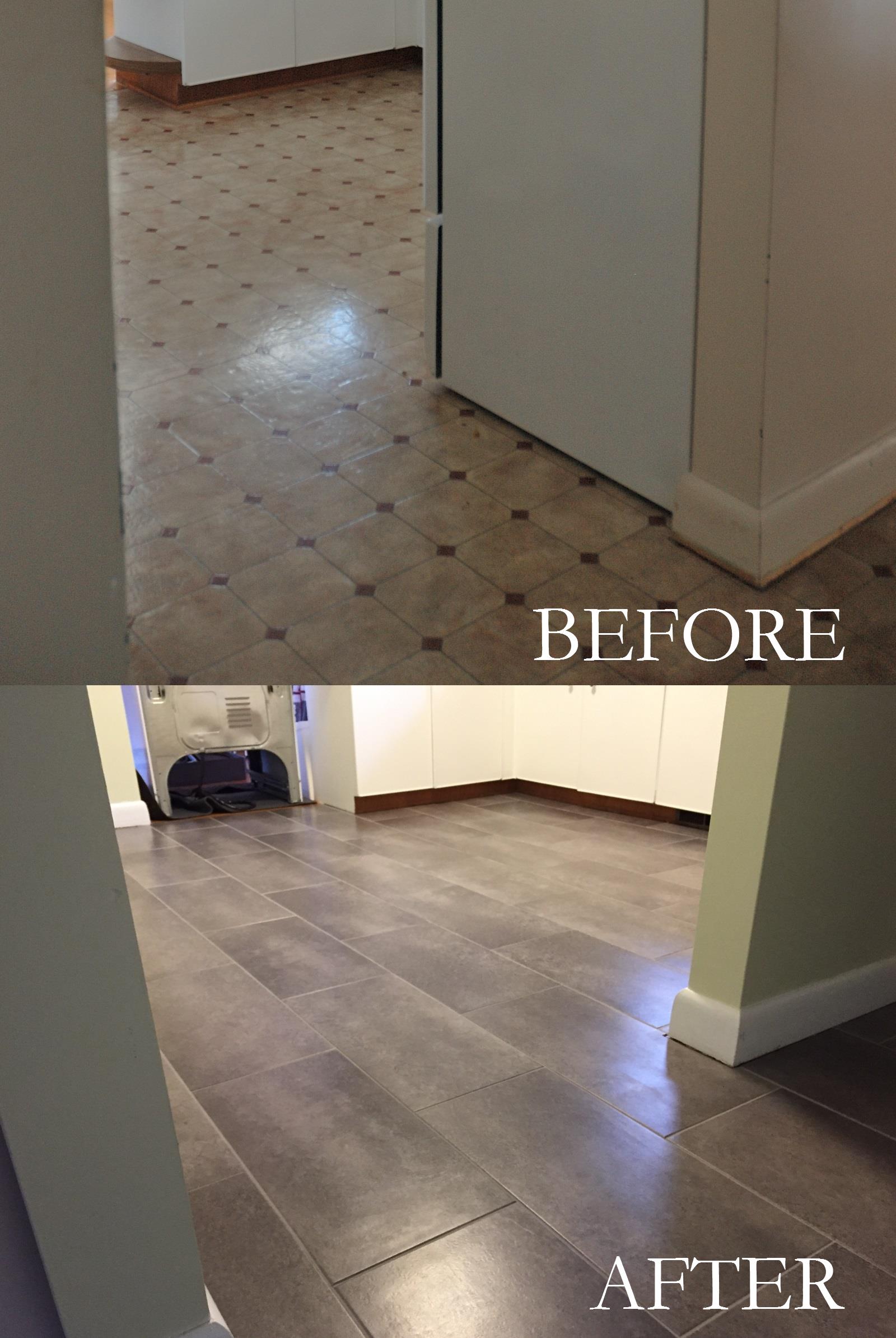 Floors Before And After Peel And Stick Floor Flooring Vinyl Flooring