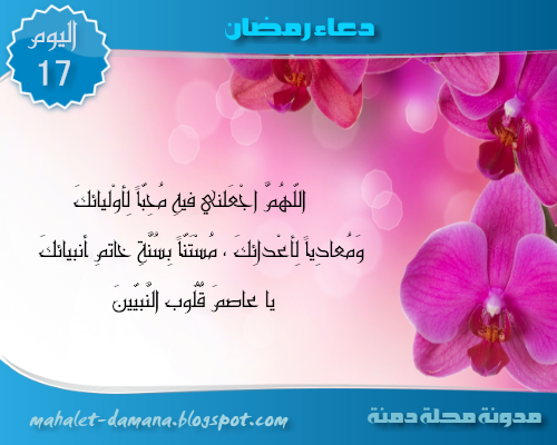 مدونة محلة دمنة دعاء اليوم السابع عشر من رمضان Ramadan Blog Blog Posts