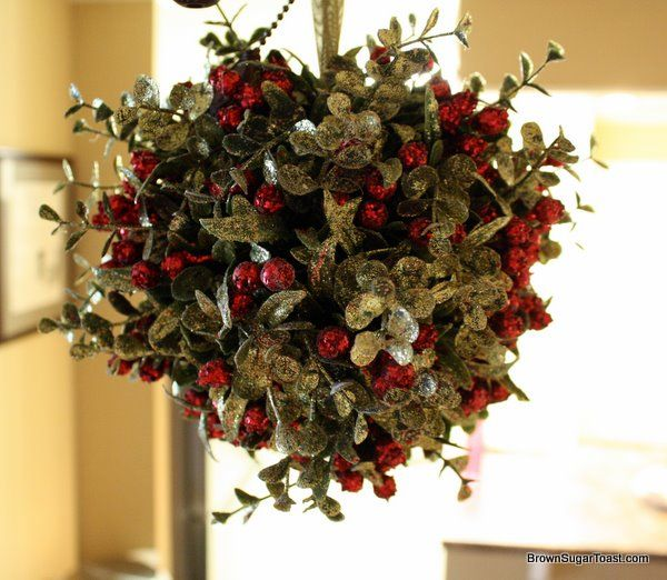 Mistletoe Ball Decoration Fair Christmas Home Tour  Mistletoe Christmas Decor And Wreaths Design Decoration