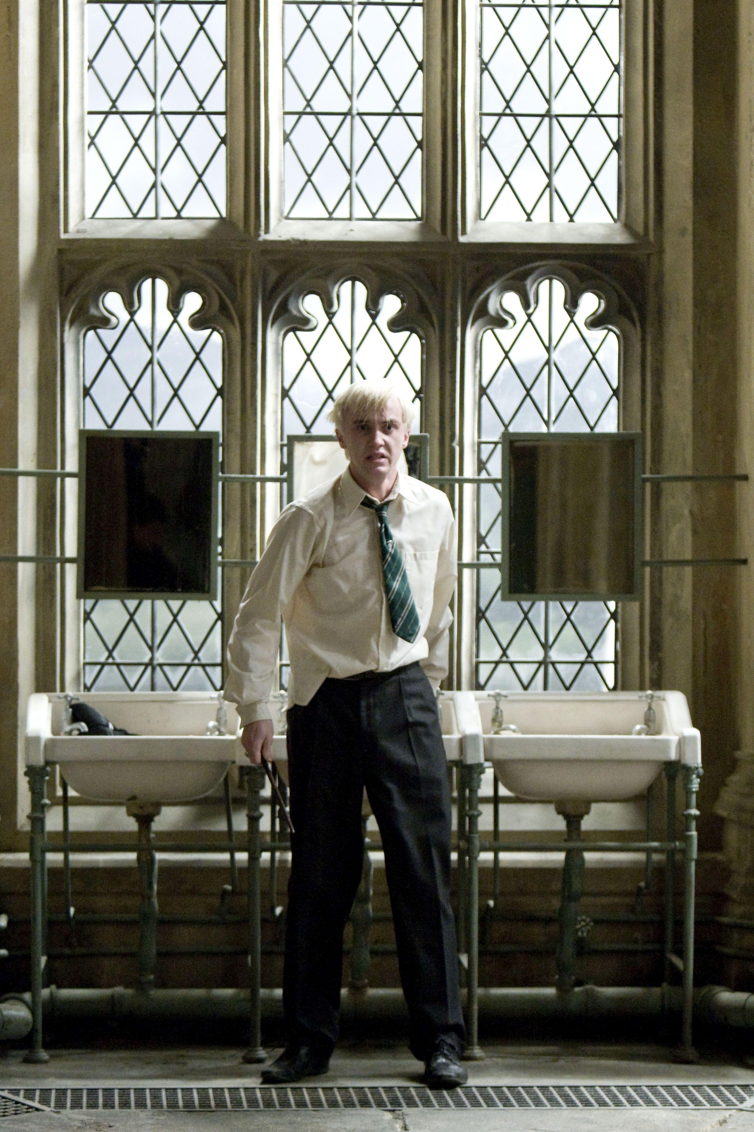 Draco Malfoy in Moaning Myrtles bathroom  Draco Malfoy