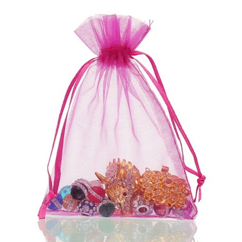 100pc Organza Gift Bags Jewelry Candy Bag Wedding Favors