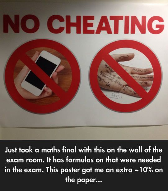 Helpful Anti Cheating Poster Funny Funny Quotes Funny Posts