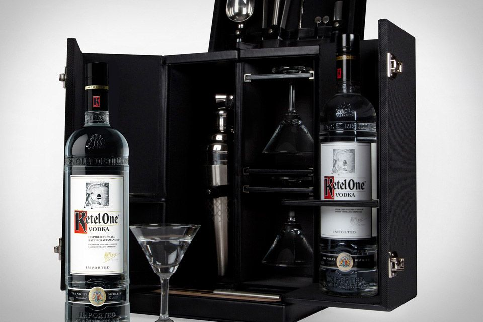 Tumi X Kettle One Leather U0026 Ballistic Nylon Portable Martini Mixology Set