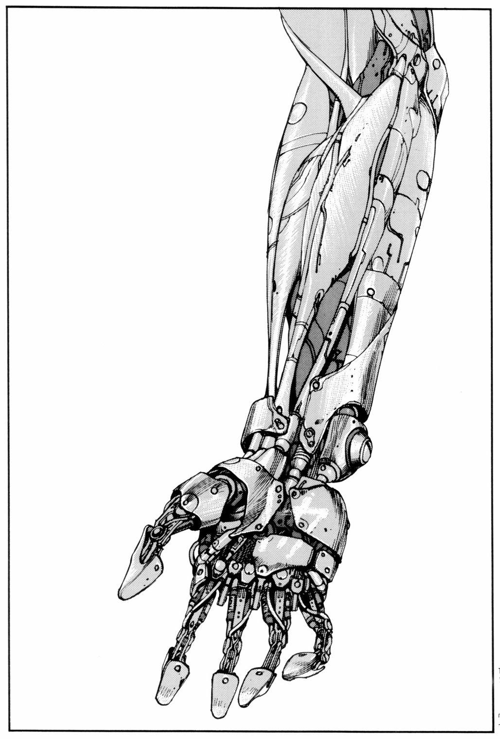 Akira scan cyberpunk art robot concept art katsuhiro otomo