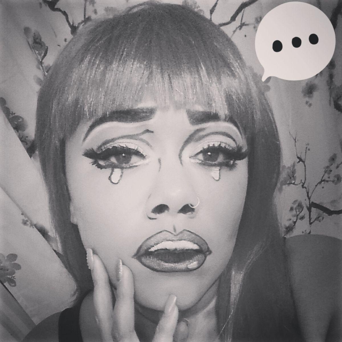 """Pop Art"" Comic Book Halloween Makeup"