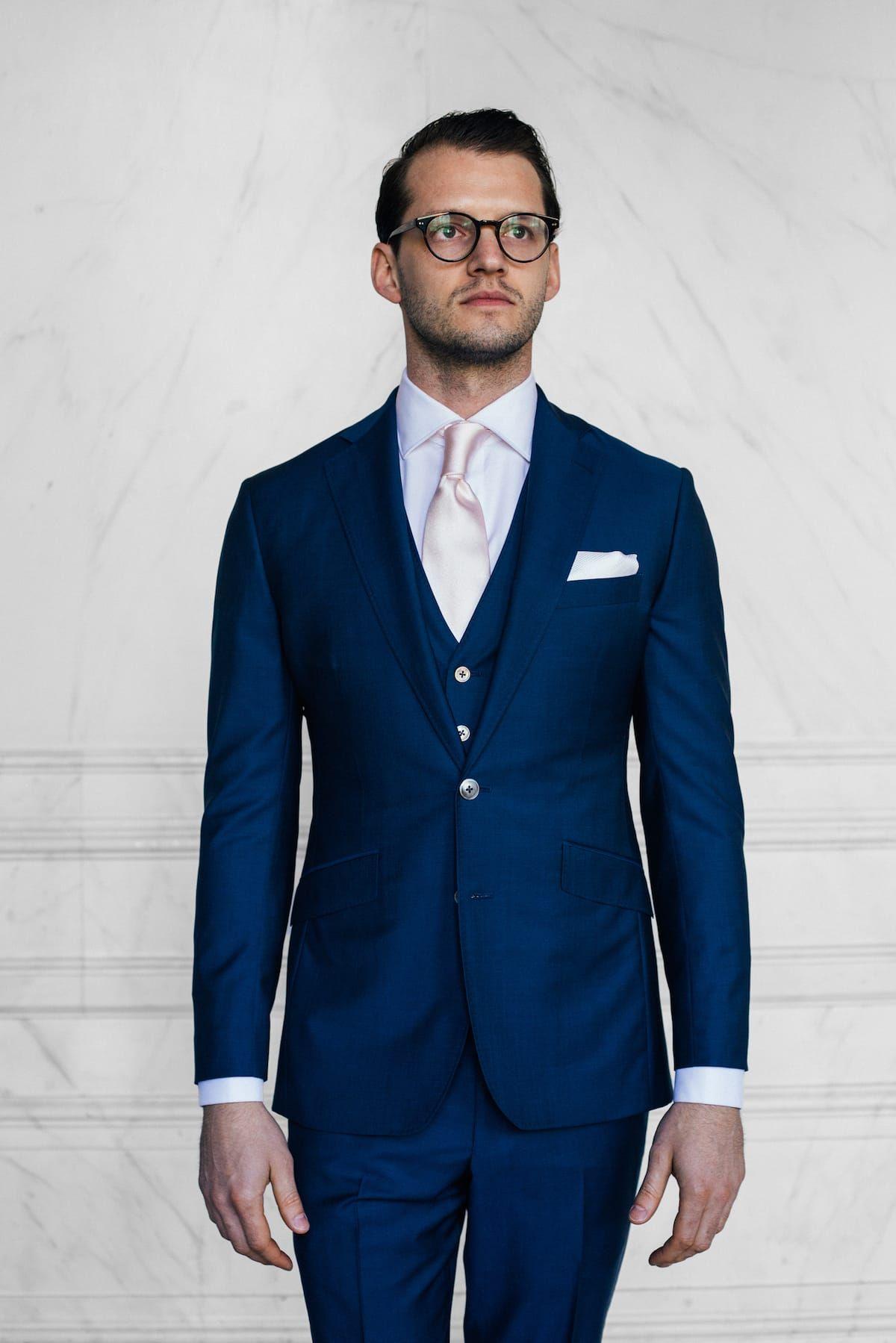 Mens En Three TrouwpakFashion Blauw SuitSuits Piece wOPX8n0k