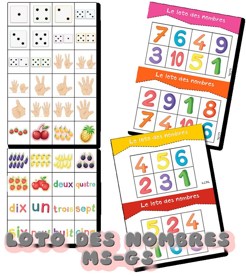 la maternelle de laur ne le loto des nombres bingo pinterest ps affichage et fiches. Black Bedroom Furniture Sets. Home Design Ideas