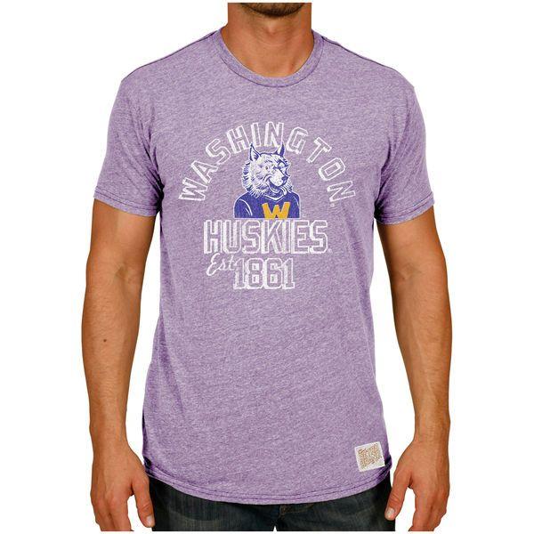 Washington Huskies Original Retro Brand Vintage Tri-Blend T-Shirt - Heather Purple - $29.99